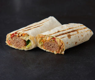 Люля-кебаб с говядиной в лаваше
