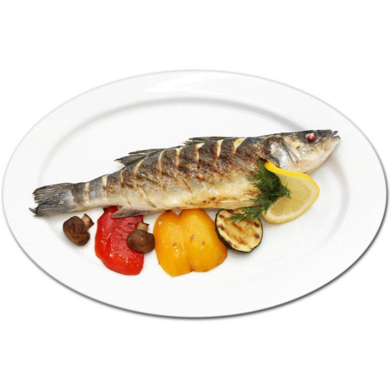 Рыба сибас на гриле